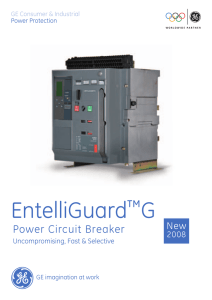 EntelliGuard™G Power Circuit Breaker