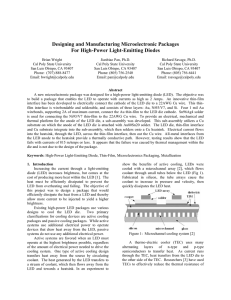 Designing and Manufacturing Microelectronic Packages for High
