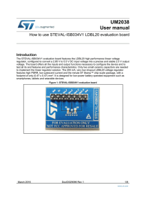 How to use STEVAL-ISB034V1 LDBL20