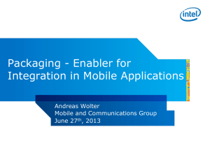 Packaging - Enabler for Integration in Mobile Applications
