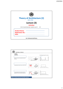 Lecture (3) Theory of Architecture (2)