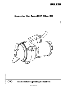 Submersible Mixer Type ABS RW 200 and 280 Installation and