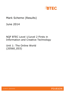 Mark Scheme (Results) June 2014