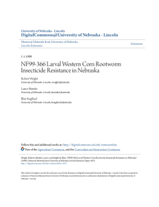 NF99-366 Larval Western Corn Rootworm Insecticide Resistance in