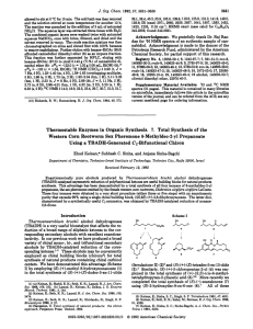 Thermostable Enzymes in Organic Synthesis. 7. Total Synthesis of