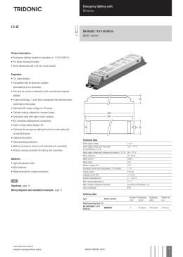 Installation instructions for discharge lighting emergency lighting units em series em basic 110 v 5060 hz cheapraybanclubmaster Images
