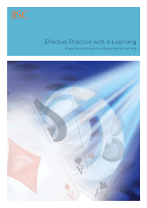 Effective Practice with e-Learning