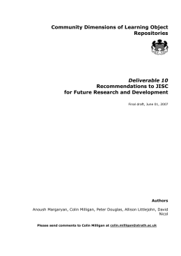 Recommendations for Future Research and Development