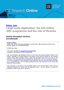 Large-scale digitisation: the £22 million JISC programme and the