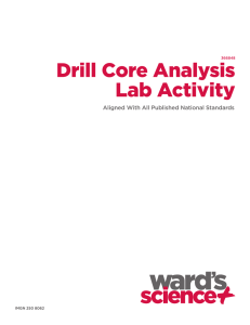 Drill Core Analysis Lab Activity