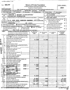 Form 990-PE Return of Private Foundation OMB No 154s.0052