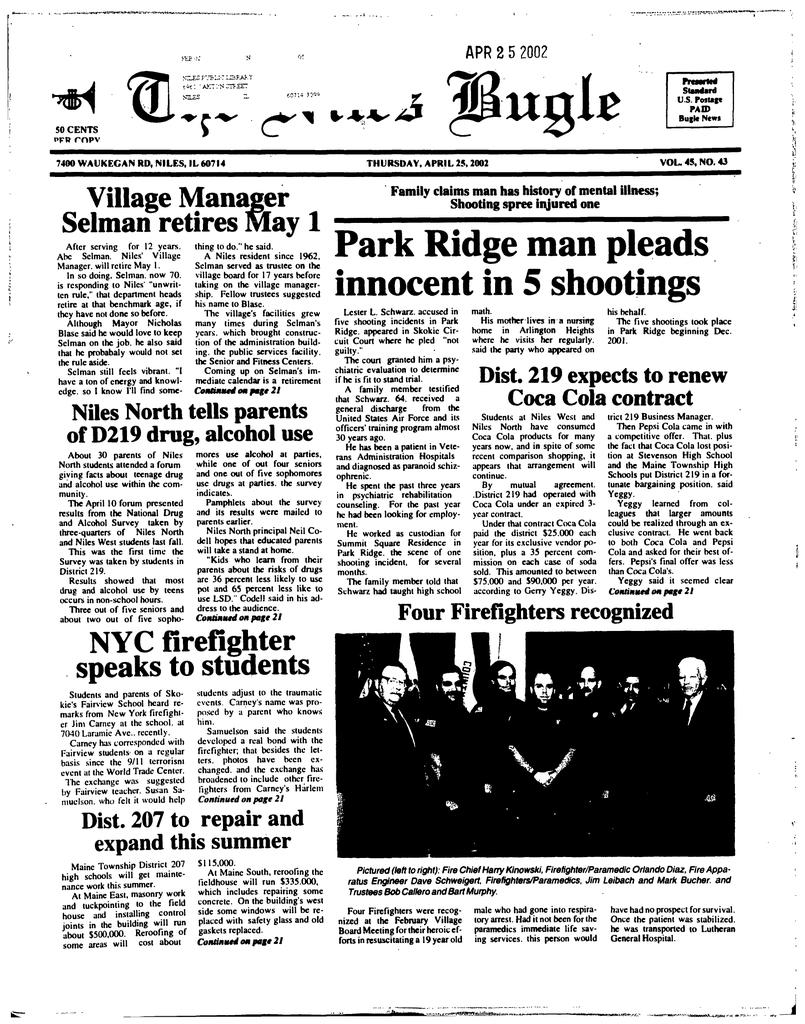Park Ridge Man Pleads Niles Public Library District