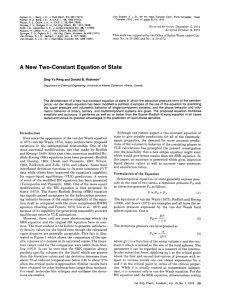 A New Two-Constant Equation of State