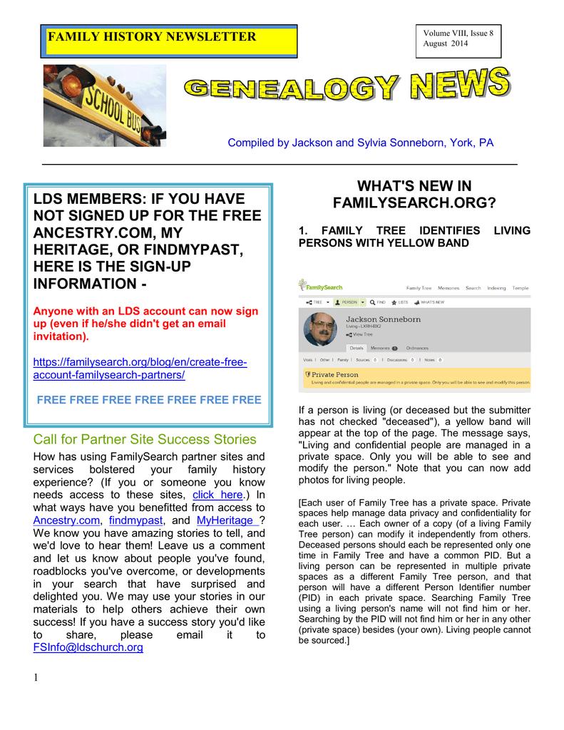 Aug 2014 - Rootsweb