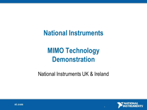National Instruments MIMO Technology Demonstration
