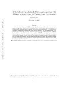 A Globally and Quadratically Convergent Algorithm with Efficient