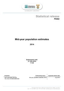 Mid-year population estimates