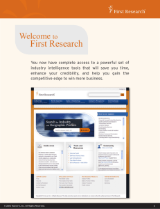 First Research Toolkit