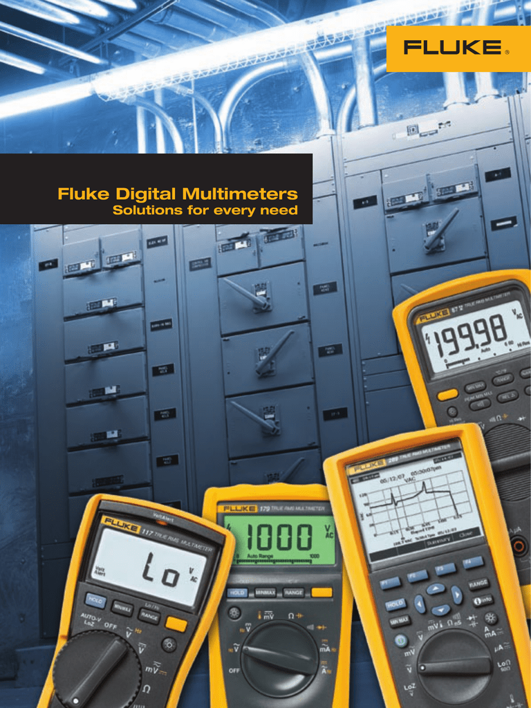 Fluke Digital Multimeters Cole Multimeter True Rms 116 Hvac