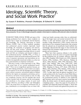 Ideology, Scientific Theory, and Social Work