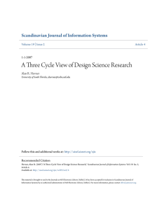 A Three Cycle View of Design Science Research