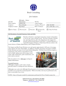 Millwright, Marine Maintenance