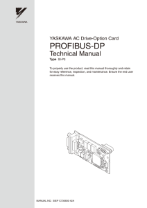 YASKAWA AC Drive-Option Card PROFIBUS-DP Technical