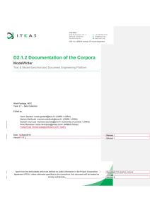 D2.1.2 Documentation of the Corpora