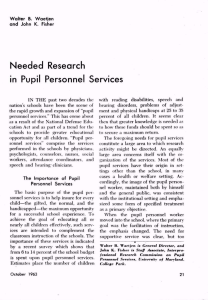 Needed Research in Pupil Personnel Services