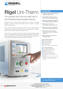 Rigel Uni-Therm - Biomedical Test Equipment from Rigel Medical