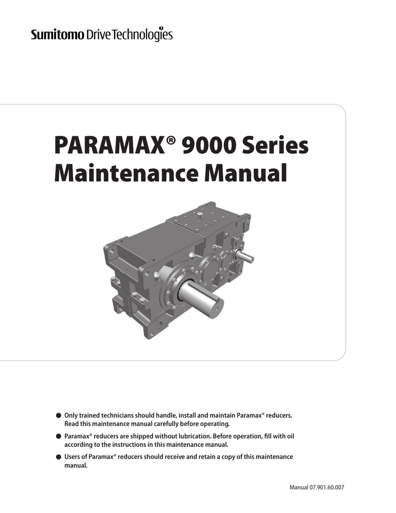 Paramax 9000 Maintenance Manual