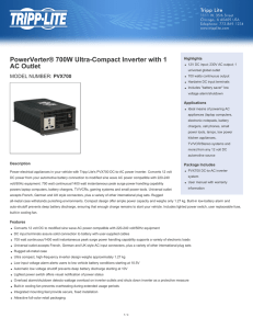 PowerVerter® 700W Ultra-Compact Inverter with 1 AC