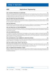 AEN Agricultural Engineering