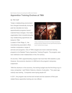 Apprentice Training Evolves at TMA - Association for Manufacturing