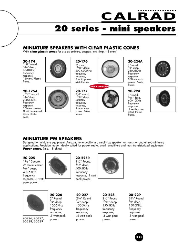 "2/"" Round Frame Mini Speaker 16 Ohm"