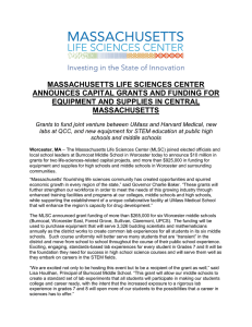 massachusetts life sciences center announces capital grants