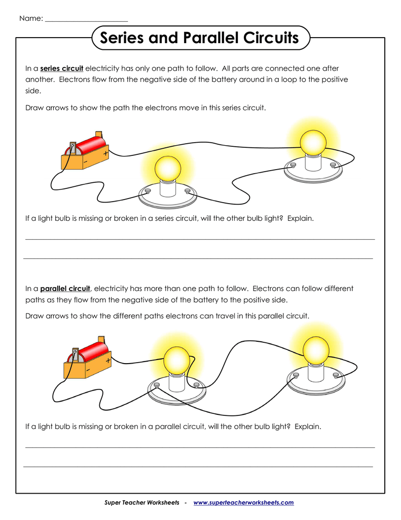 One Path Super >> Series And Parallel Circuits