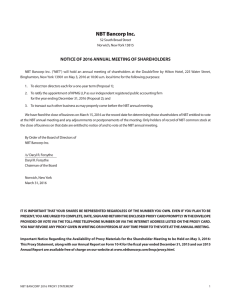 Notice of 2016 Annual Meeting and Proxy Statement