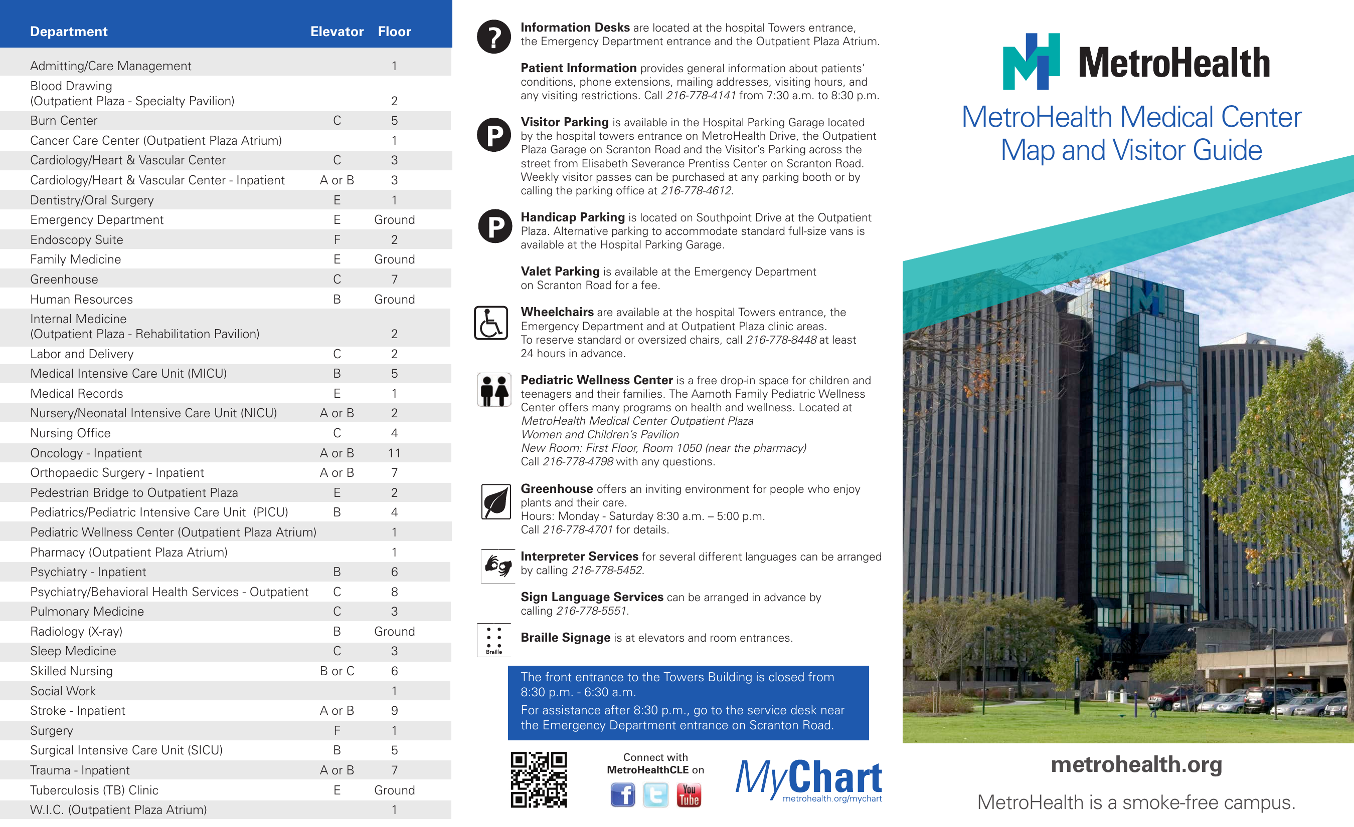 MetroHealth Medical Center Map and Visitor Guide on kaiser permanente campus map, unc health care campus map, metro campus map, westlake campus map, newton-wellesley hospital campus map, nasa campus map, cwru campus map, boston scientific campus map, marymount campus map, mgh campus map, yale campus map, southwest general campus map, general motors campus map, summa campus map, hackensack university medical center campus map, uh campus map, vidant medical center campus map, st vincent's campus map, cleveland clinic campus map, carolinas medical center campus map,