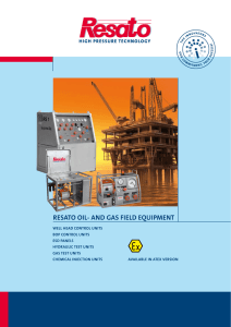resato oil- and gas field equipment