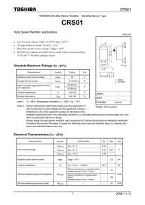 2006-11-13 1 High Speed Rectifier Applications Absolute Maximum