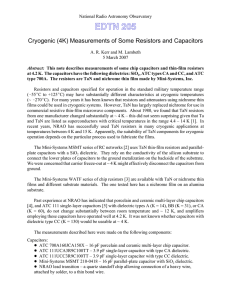 Measurements of Some Resistors and Capacitors