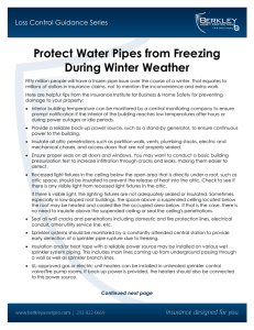 Protect Water Pipes from Freezing