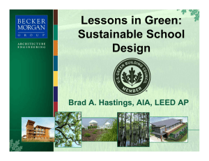 Lessons in Green: Sustainable School Design