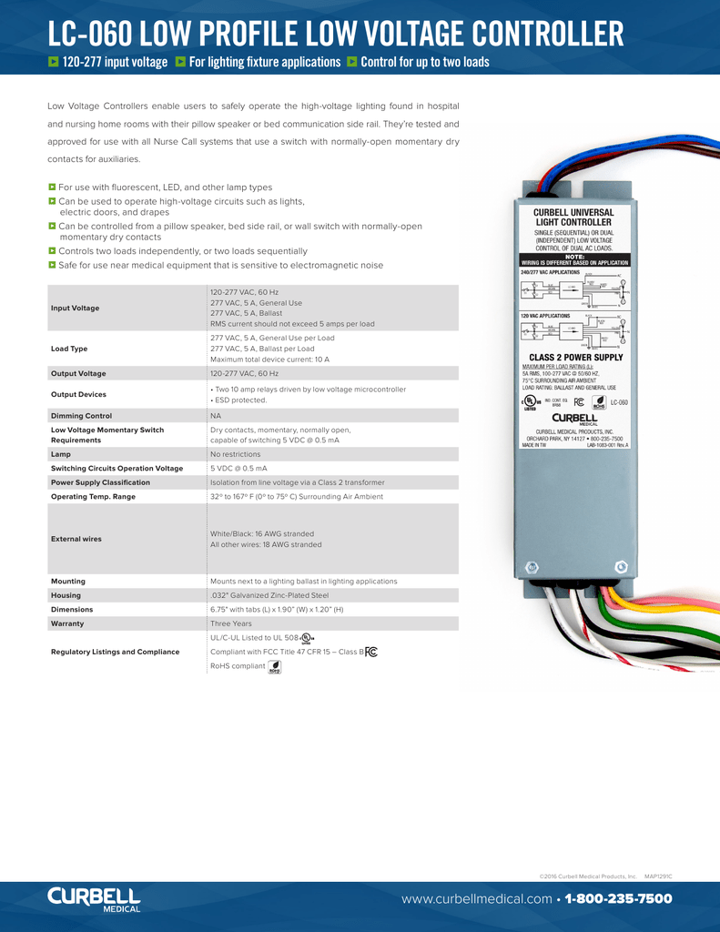 Lc 060 Low Profile Voltage Controller Ac Wiring