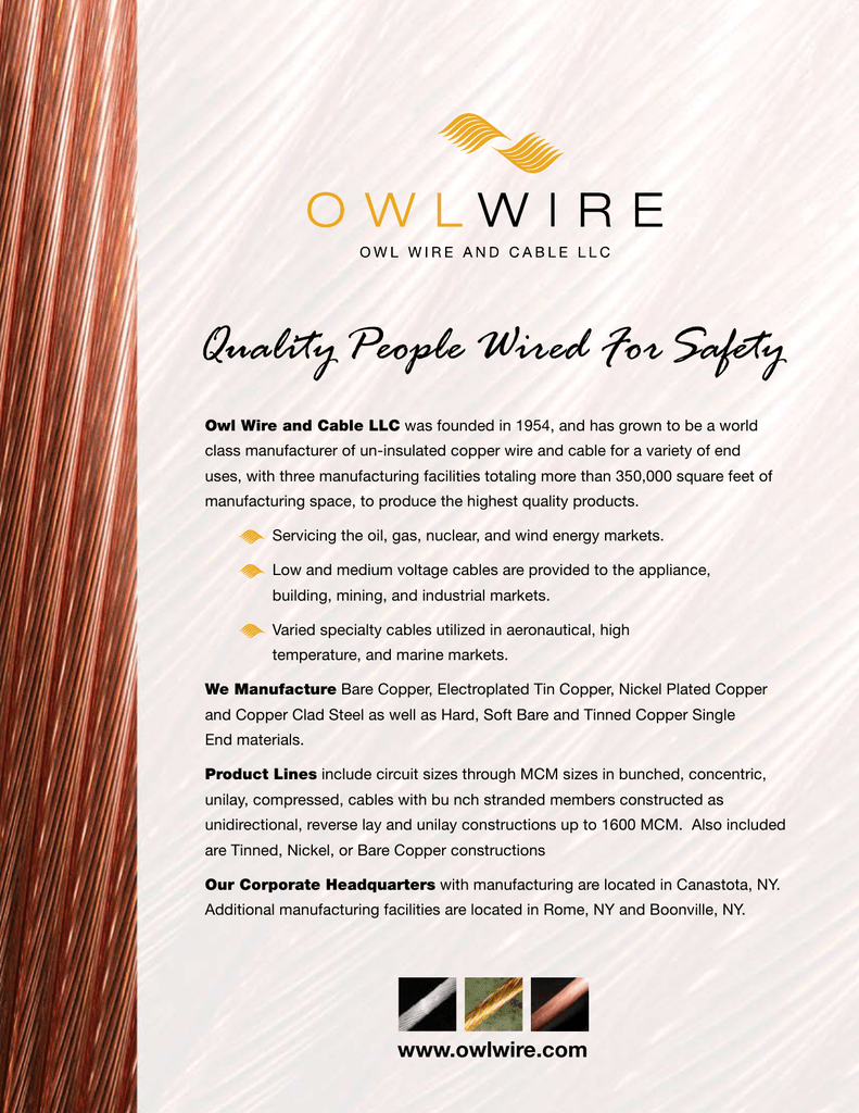 Quality People Wired For Safety