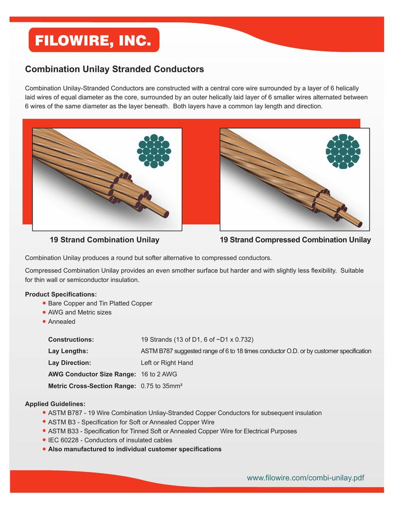 Combination Unilay Stranded Conductors