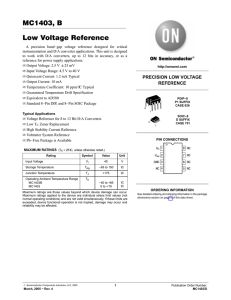 MC1403, B Low Voltage Reference