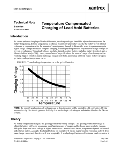 Temperature Compensated Charging of Lead Acid Batteries