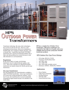 Regulations Dry-type Transformers HPS Outdoor Dry